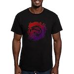 tribal dragon Men's Fitted T-Shirt (dark)