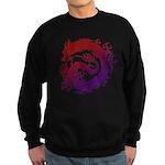 tribal dragon Sweatshirt (dark)