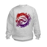 tribal dragon Kids Sweatshirt