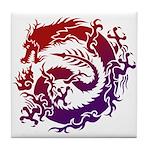 tribal dragon Tile Coaster