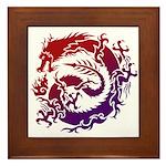 tribal dragon Framed Tile