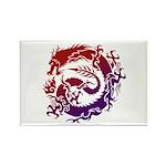 tribal dragon Rectangle Magnet