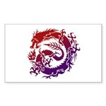 tribal dragon Sticker (Rectangle)