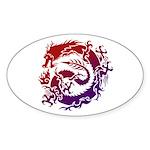 tribal dragon Sticker (Oval 50 pk)