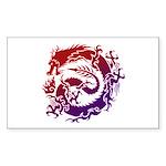 tribal dragon Sticker (Rectangle 10 pk)