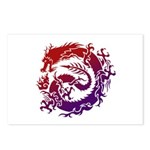 tribal dragon Postcards (Package of 8)