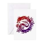 tribal dragon Greeting Cards (Pk of 10)