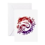 tribal dragon Greeting Cards (Pk of 20)
