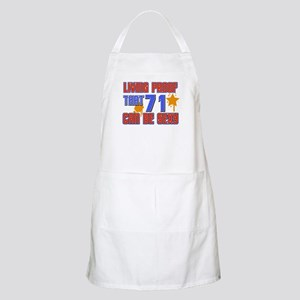 Cool 71 year old birthday design Apron