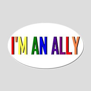 I'm an Ally 22x14 Oval Wall Peel