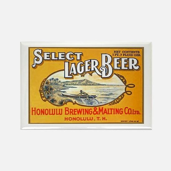 Hawaii Beer Label 1 Rectangle Magnet