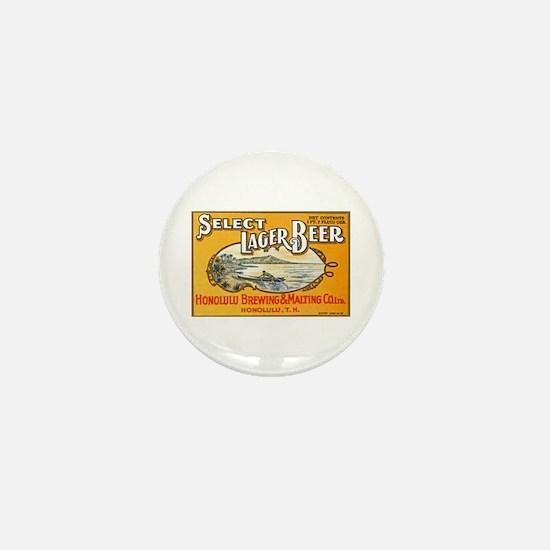 Hawaii Beer Label 1 Mini Button