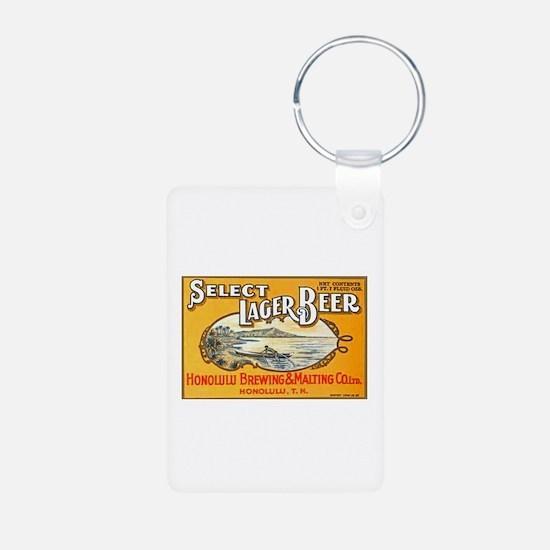 Hawaii Beer Label 1 Keychains