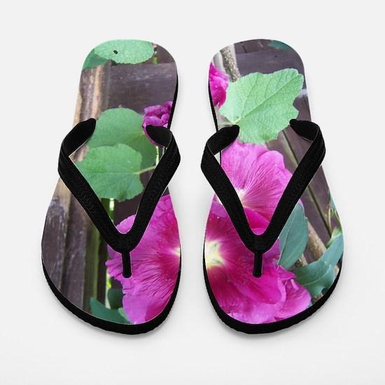 Hollyhocks Flip Flops