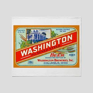 Ohio Beer Label 2 Throw Blanket