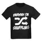Everyday I'm Shuffling Kids Dark T-Shirt