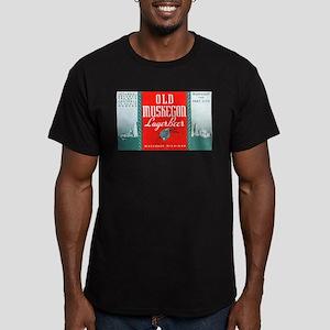 Michigan Beer Label 3 Men's Fitted T-Shirt (dark)