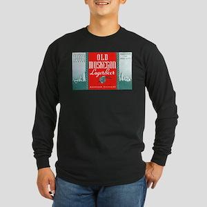 Michigan Beer Label 3 Long Sleeve Dark T-Shirt