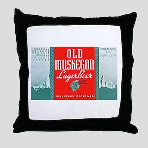 Michigan Beer Label 3 Throw Pillow