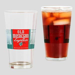 Michigan Beer Label 3 Drinking Glass