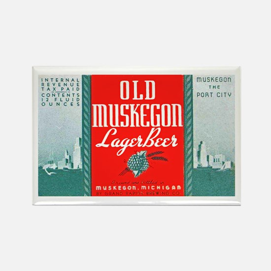 Michigan Beer Label 3 Rectangle Magnet