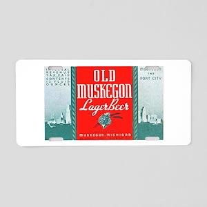 Michigan Beer Label 3 Aluminum License Plate