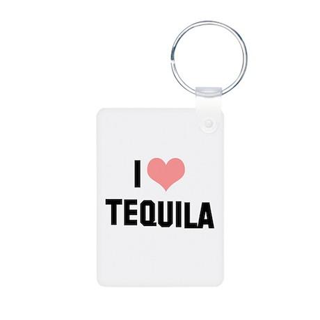 I heart Tequila Aluminum Photo Keychain