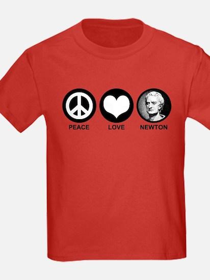 Peace Love Newton T