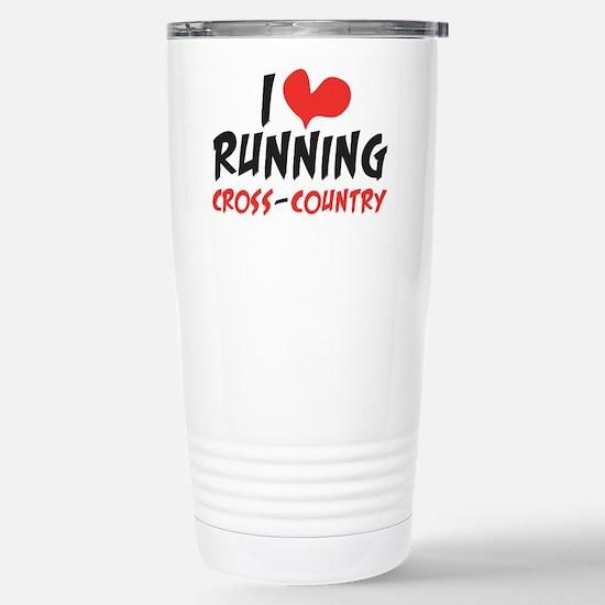 I Heart Running Cc Stainless Steel Travel Mug
