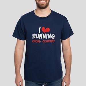 I heart (love) running CC Dark T-Shirt