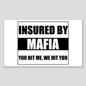 Insured By Mafia Rectangle Sticker