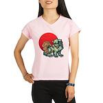 shishi Women's double dry short sleeve mesh shirt