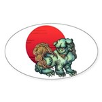shishi Sticker (Oval 10 pk)