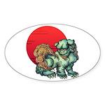 shishi Sticker (Oval 50 pk)