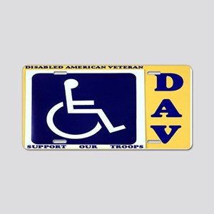 DISABLED VETERAN Aluminum License Plate