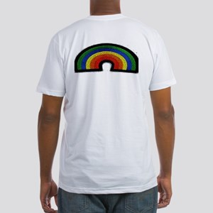 RAINBOW_MOSAIC_3Dlook Fitted T-Shirt