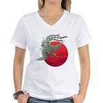 houou1 Women's V-Neck T-Shirt