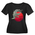 houou1 Women's Plus Size Scoop Neck Dark T-Shirt