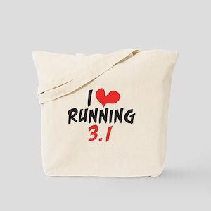 I heart running 3.1 Tote Bag