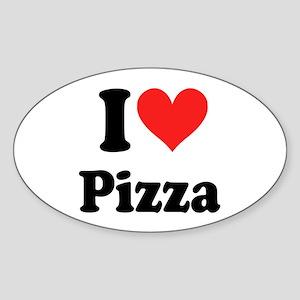 I Heart Pizza: Sticker (Oval)