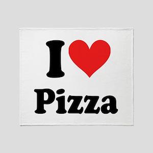 I Heart Pizza: Throw Blanket