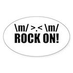 Rock On Sticker (Oval 50 pk)