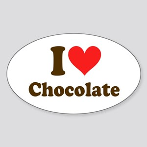 I Heart Chocolate: Sticker (Oval)