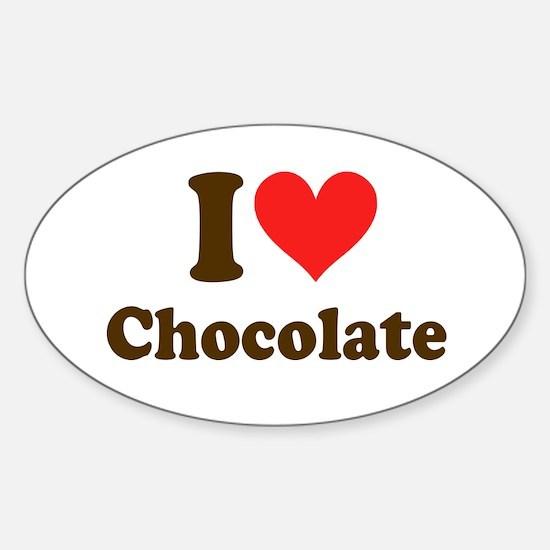 I Heart Chocolate: Sticker (Oval)