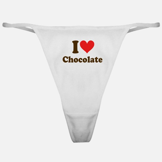 I Heart Chocolate: Classic Thong