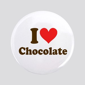 "I Heart Chocolate: 3.5"" Button"