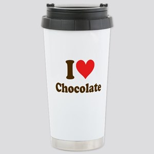 I Heart Chocolate: Stainless Steel Travel Mug