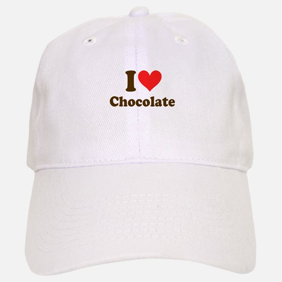 I Heart Chocolate: Baseball Baseball Cap