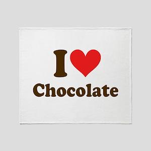 I Heart Chocolate: Throw Blanket