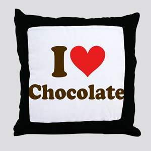 I Heart Chocolate: Throw Pillow